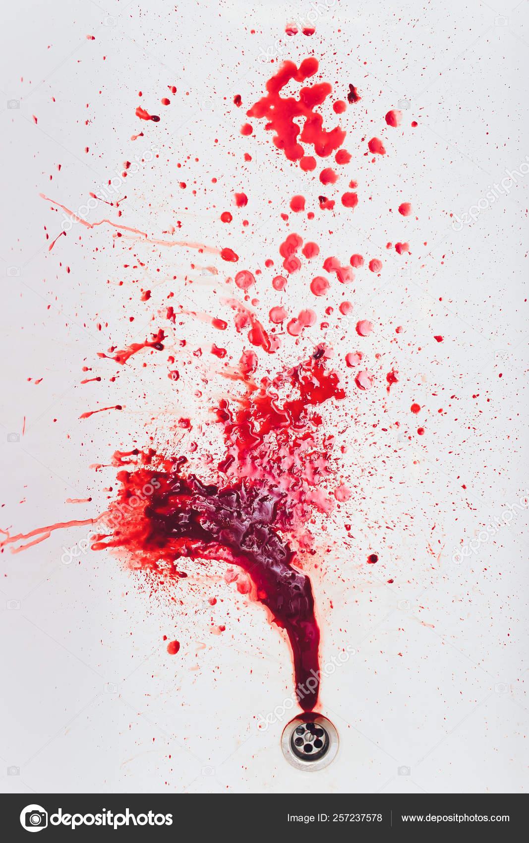 vörös vérfolt a lábán